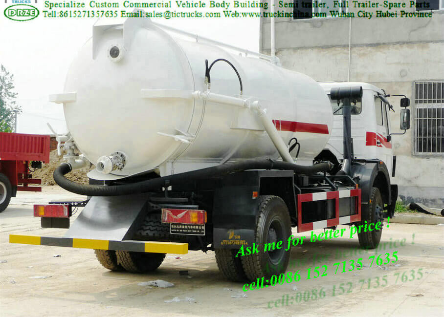 Beiben 1627 NORTH BENZ VACUUM SEWAGE SUCKING TANKER
