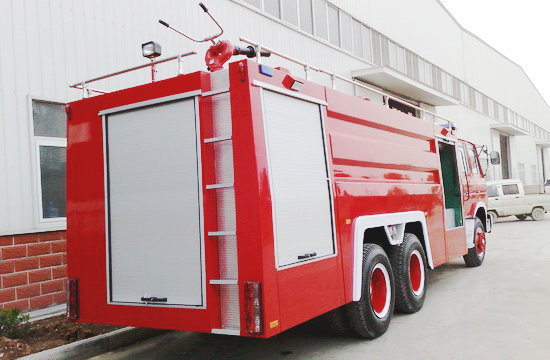 EQ1208GJ5 6X4 water foam tanker fire truck