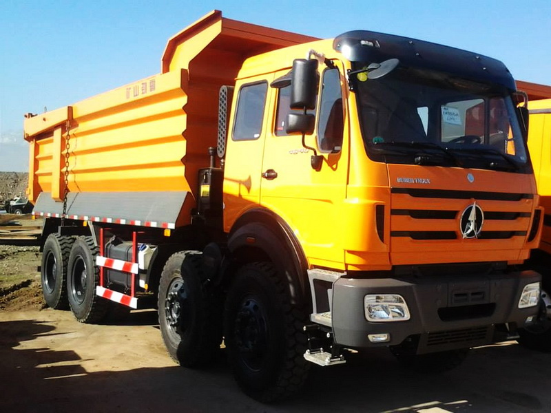 Beiben 12 Wheeler Dump Trucks NG80 Mercedes Benz Alxes