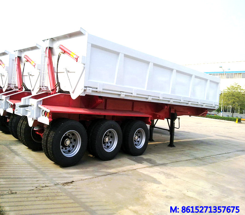 Tri-Axles Side Tipper Semi-Trailer