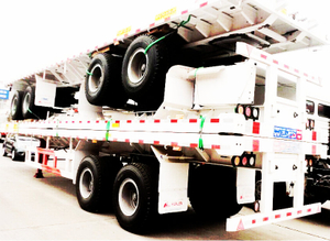 40FT Bogie Type Flatbed Semi-trailer