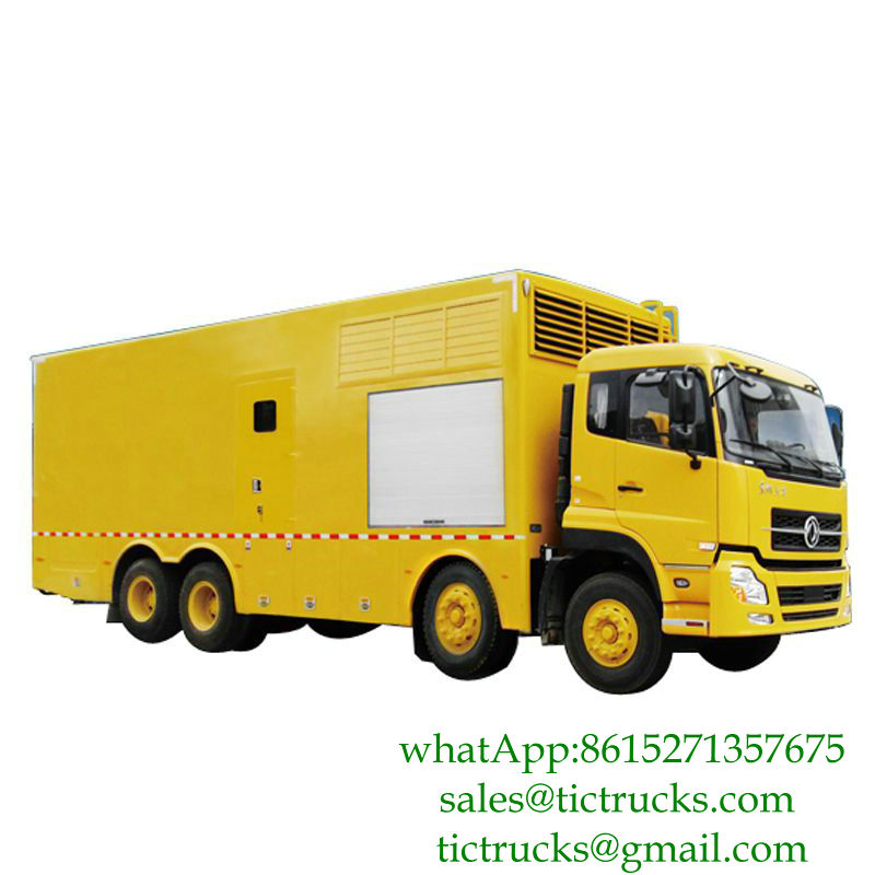 100kw-1000kw Dongfeng 8x4 Mobile Power Generator Truck CUMMINS Engine