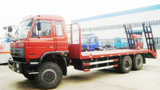 Flatbed Truck Dongfeng 6x4 Flatbed Truck for Loading Excavator