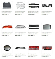 Dongfeng Truck Parts (Cabin Accessories)