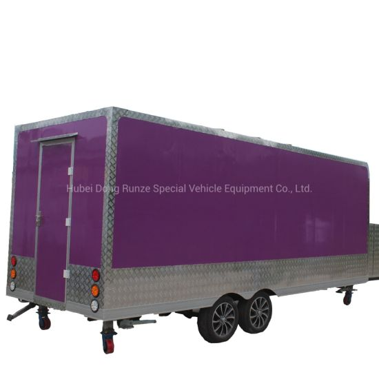 Mobile Potato Chips Making Machine Selling Food Trailer, Outdoor Street Food Trailer Cart