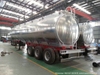 42000L Aluminum Alloy Fuel Tank Trailer (ALCOA 5083 BPW Air Ride Spring 3 Axles Front Axle Liftable with ECO ADR Compatible Tankers)