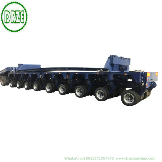 Customization 150t Multi 8-9 Axles Functional Gooseneck Hydraulic Combined Modular Lowbed Trailer
