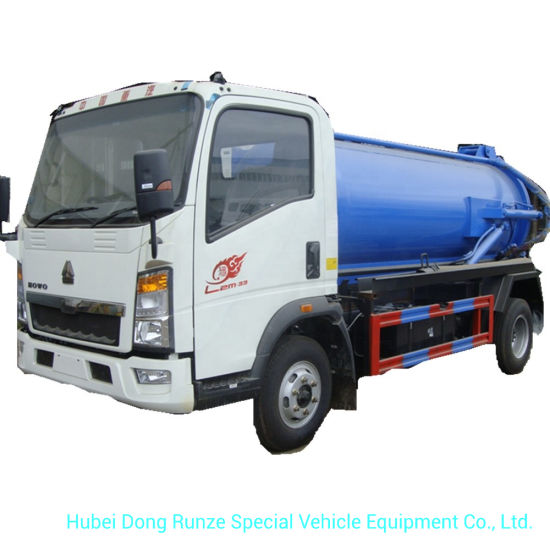 Small HOWO Septic Tank Truck 4000 Liters for Cesspool Emptier