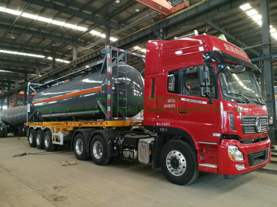 Un 1789 Isotank 30FT for Tank Container Road Transport Hydrochloric Acid (Muriatic Acid Strongly Acidic Hydronium Chloride ,HCl) 28,000liters