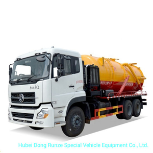 Vacuum Tanker Combined Sewer Jetting 15, 000 Liters-20, 000liters VAC Tank Mounted Water Ring High Pressure Vacuum Pump Rhd or LHD 6X4 /6X6
