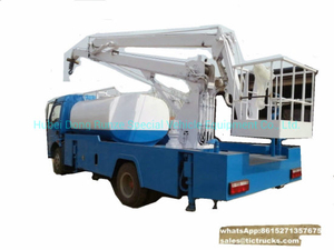 Truck Mounted Aerial Platform 16m Manlift Mounted Water Tank 3000L