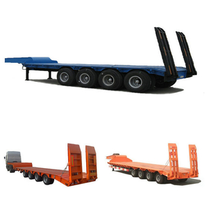 Heavy Duty 80t Excavator Transportation Lowbed Trailer 4 Axls Cheap Price