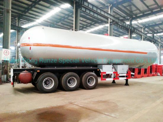 Liquid Ammonia Road Tanker 3 Axles Semi Trailer 48cbm Liquid Nh3