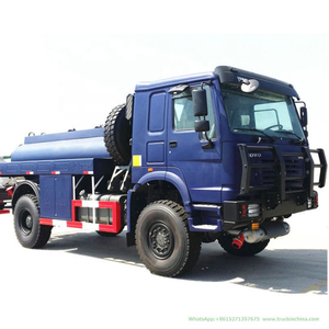 HOWO Diesel Fuel Bowser Truck 5000-10000 Liter (4X4 Wheels All wheels Off Rough Road Transport Gasoline, Diesel Oil, Lubricating Oil and Coal Tar Oil Tanker)