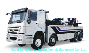 Sino Truck HOWO 360 Degree Rotation 50 Tons Heavy Duty Wrecker