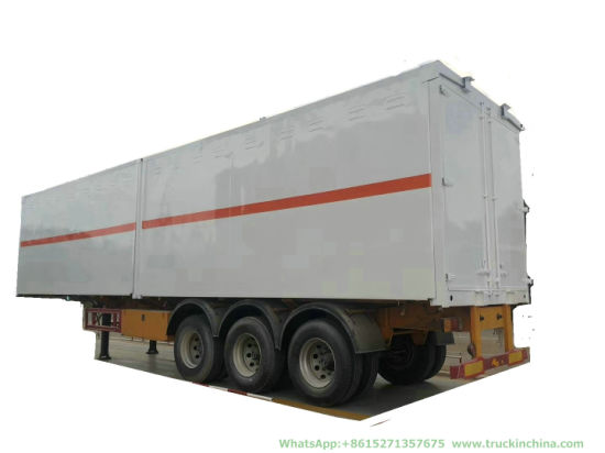 Customizing 3 Axles Insulated Van Explosion-Proof Blasting Goods (Explosive Detonator, Blasting Cap) Transport Trailer