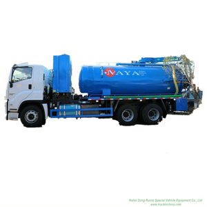 ISUZU GIGA Combination Jet Suction Trucks- 14000Liters Sewage+4000Liters Clean Water