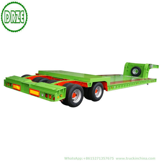 Hydraulic Low Loader 2 Axle 16 Wheel Hydraulic Gooseneck Lowbed Semi Trailer