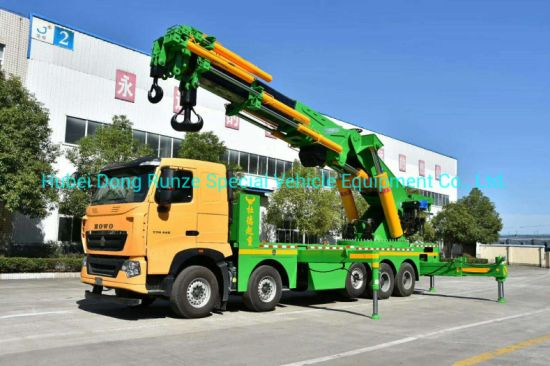 Sinotruck HOWO 10X4 Mounted Crane Truck 160ton Sq3200zb6 Knuckle Crane