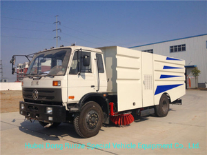 Dongfeng Street Sweeper Truck 4.5cbm Garbage 1.5 Cbm Water Stainless Steel for Airport Yard Sweeping Cleaning 4X2 -Rhd. LHD