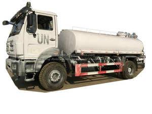 Beiben Truck 1629 Water Bowser Offroad Military 4X4 -4X2 Good for Rought Road Transport Drinking Water Steel Tank Inner Lined Plastic