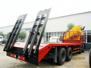 Hot Sale 31t 8X4 Flatbed Truck with Crane for Sale