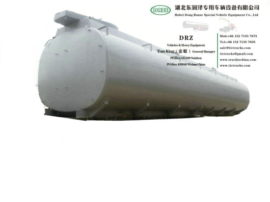 Customizing Acid Tanker Body Part for Trailer Transport (Steel Lined Plastic LLDPE 16mm Tank Capacity 22-36M3 Hydrochloric Acid Dilute Sulphuric Acid chemical)