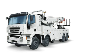 Iveco. Genlyon Recovery Trucks Heavy Duty Wrecker 50tons with Remote Control Rotatory Crane Wrecker for Towing Truck