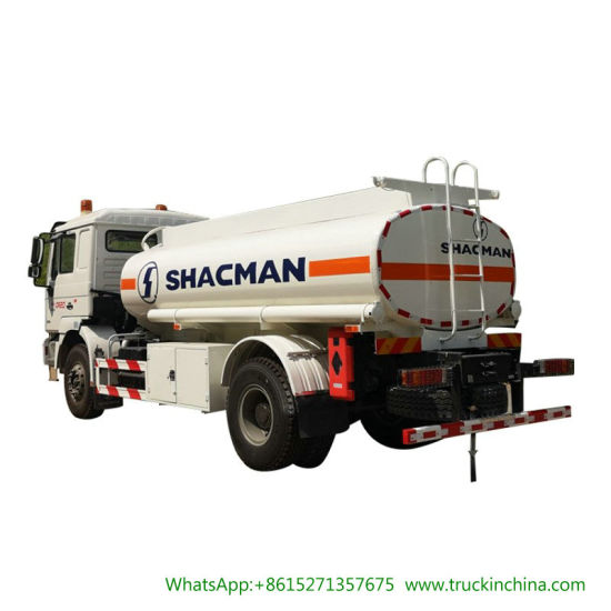 Shacman Fuel Tanker Trucks 15000L F2000 with Oil Bowser Pump and Refueling Reel Fuel Dispenser