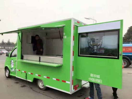 Mini Ice Cream Street Vending Truck Fast Customizing Stainless Steel Crepe Food Car