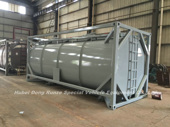 Class 8 Naclo 20FT Tank Container for Sodium Hypochlorite (NaClO max 15%) Solution Perfect for Transport Bleaching Liquid Un 1791