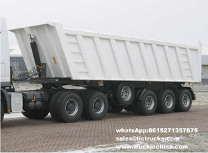 Dump Semi-trailer 3 axles Air suspension