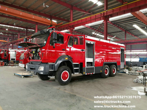 Beiben off road 6x6 water foam fire truck RHD/ right hand drive 12Ton water,4Ton foam