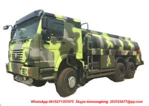 HOWO Military 6X6 Fuel Tanker Truck for Amy Fuel Servicing 18-25CBM