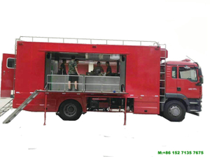 HOWO Firemen Mobile Food Truck 4*2 Customizing Sinotruck Mobile Kitchen