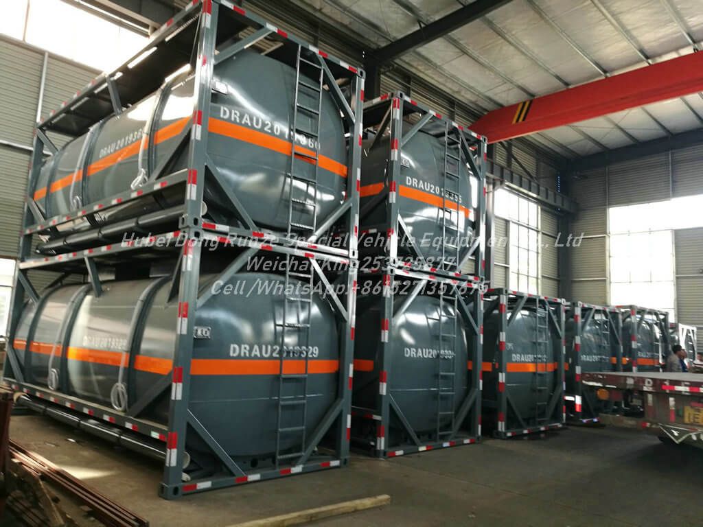 10 Units New ISO 20 FT TANK CONTAINER LLDPE LINED For contain: HCl (max 35%), NaOH (max 50%), NaCLO (max 10%), PAC (max 17%) Export to HAIPHONG VIETNAM Second times