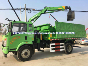 Sino Dredge Truck,Truck Mounted Mud / Wast Steel Grab Crane