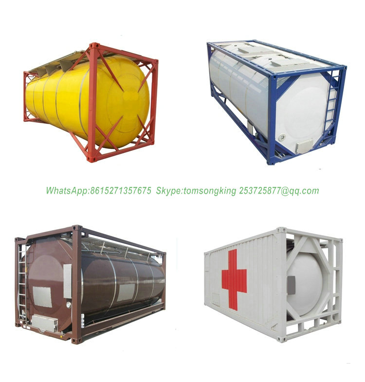 Food Stuff And Non-food / Chemical ISO Tank Containers Insulated 316L Stainless