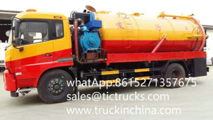 King Run high pressure vacuum tanker truck septik tank truck 10800L,11790L Euro 5 Cummins Engine