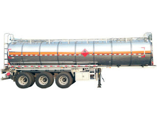 Stainless Steel 3 Axles Water Tank Semi Trailer 33000 Liters