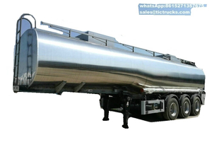 Stainless Steel Tanker Semi Trailer for Ammonium Nitrate, Hot Liquid Sulfur Transport Solution