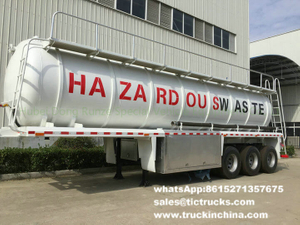 tri axles Cesspit tanker trailers and Vacuum Tank trailer 25m3